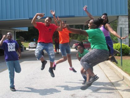 Jumping for joy at DAJA